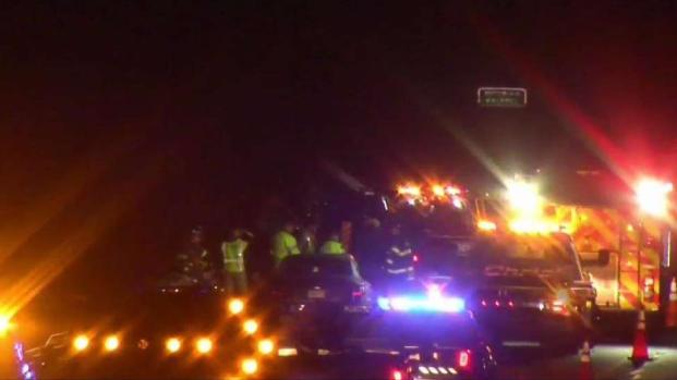 [NECN] Car Crash on 95 Northbound in Walpole