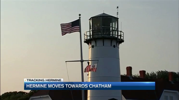 [NECN] Cape Residents, Tourists Take Hermine Threat in Stride