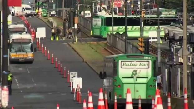 [NECN] Mass. Pike Lane Closures Result of Comm. Ave Bridge Demo