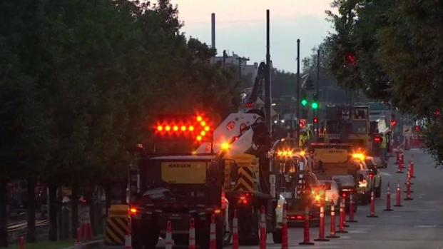 [NECN] Commonwealth Avenue Closes to Traffic