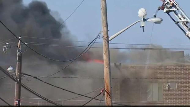 [NECN] Crews Battle 5-Alarm Fire in Revere