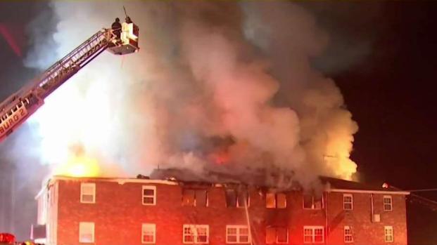 [NECN] Crews Battle Large Fire at Townsend Apartment Building