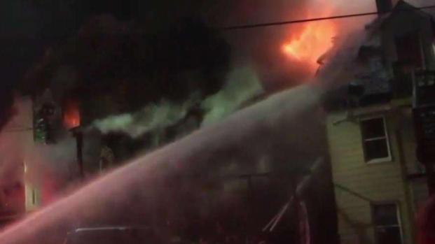 [NECN] Crews Battle Massive Fire in Lowell