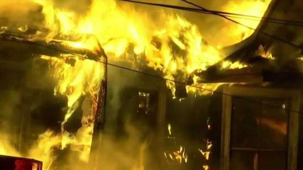 [NECN] Firefighters Battle Raging House Fire in Billerica