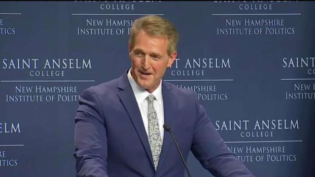 [NECN] Flake Talks Kavanaugh on Trip to New England