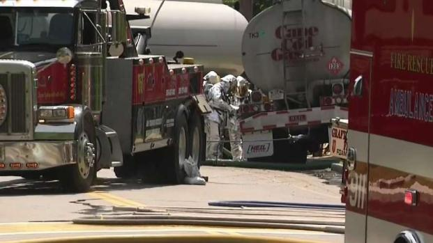 [NECN] Gas Tanker Crash Leads to Hazmat Situation in Northbridge