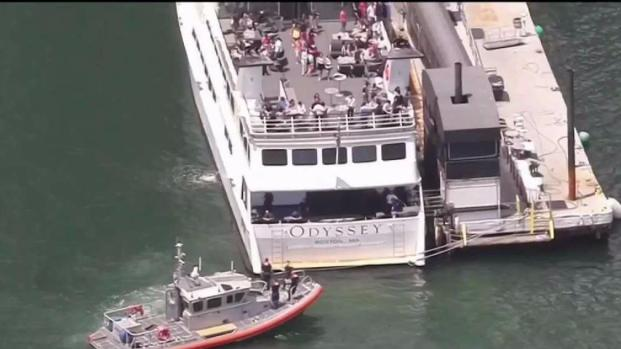 [NECN] Harbor Cruise Ship Crashes Carrying 8th Graders