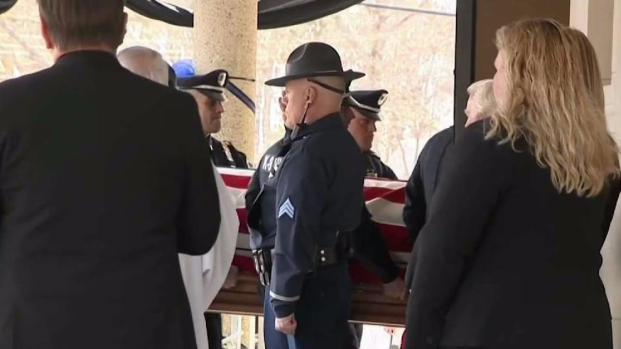 [NECN] Mourners Pay Respects to Officer Gannon at Wake