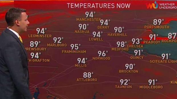 [NECN] Pop Up Storms Fizzle Out Tuesday Evening