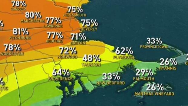 [NECN] Weather Forecast: Humid Sunday, Chance of Late Storms