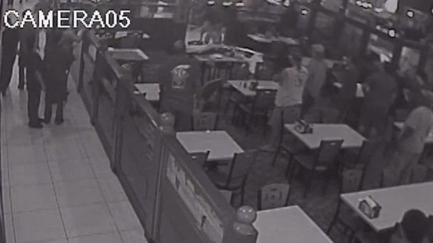 Man Falls Through Restaurant Ceiling onto Dining Guests