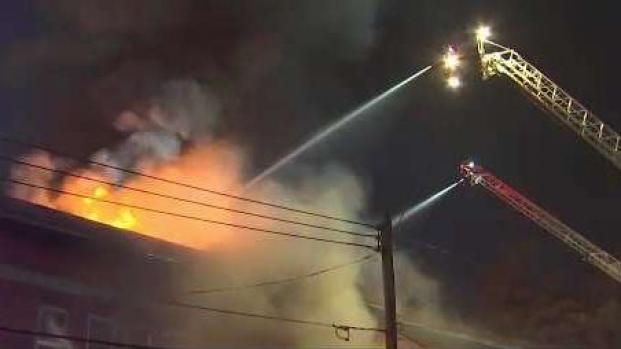 [NECN] Nearly 60 Displaced in Fitchburg Apartment Building Fire