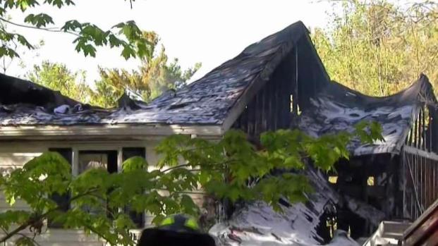 [NECN] Officials Battle House, Brush Fire in Needham