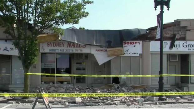 [NECN] Partial Building Collapse in Quincy Under Investigation