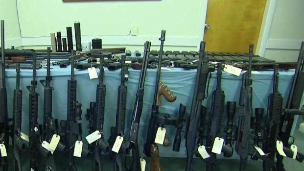 [NECN] Police Seize Dozens of Illegal Guns in Shirley