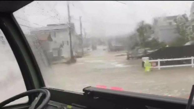[NECN] Riding Along for High Water Rescues in Duxbury