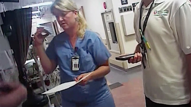Police Drag Nurse Outside As She Cries 'I Did Nothing Wrong!'