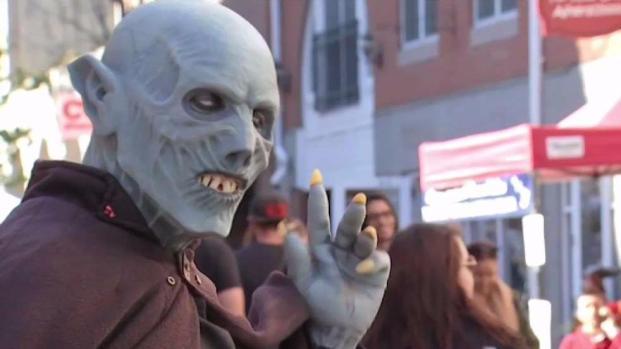 [NECN] Security Heightened for Halloween Festivities in Salem