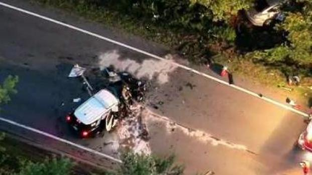 [NECN] Serious Crash Involving 2 Police Cruisers