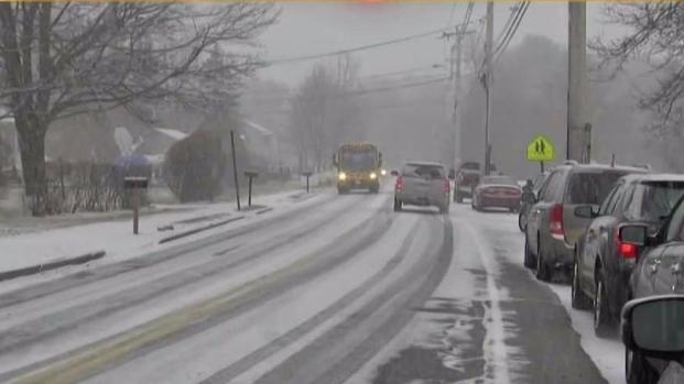 [NECN] Snow Falling Across New England Wednesday