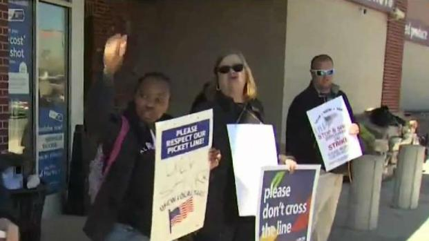 [NECN] Stop Shop Workers Go on Strike Over Stalled Contract Negotiations
