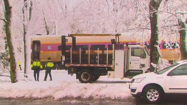 [NECN] Storm Impacts Ride Home on MBTA Commuter Rail