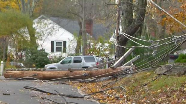 [NECN] Strong Winds Cause Damage in Wilmington