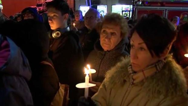 [NECN] Vigil for Young Sisters Killed in Revere Crash