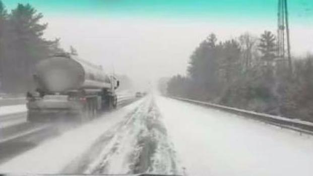 [NECN] Snow and Slick Conditions in NH