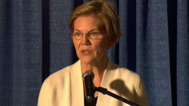 [NECN] Warren Campaigns at NH Event