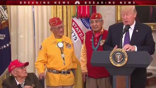 [NECN] Warren Responds to Trump's 'Pocahontas' Comment