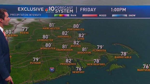 [NECN] Partly Cloudy, Showers Possible for Labor Day Weekend