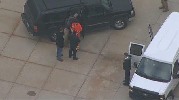 [NECN] RAW VIDEO: Tsarnaev Brought Inside