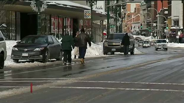 [NECN] Snow Clean-Up Continues in Worcester, Mass.