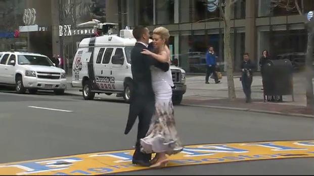 Marathon Bombing Survivor Dances Across Finish Line