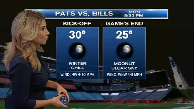 [NECN]Weather Forecast: Monday Night Football Forecast Preview