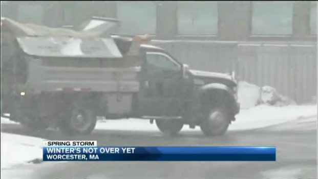 [NECN] Second Round of Spring Snow in New England
