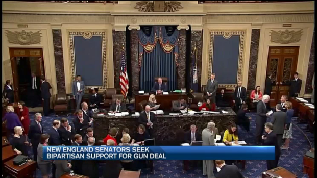 [NECN] New England Senators Seek Bipartisan Support for Gun Deal