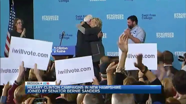 [NECN] Clinton, Sanders Speak to Voters at New Hampshire Rally