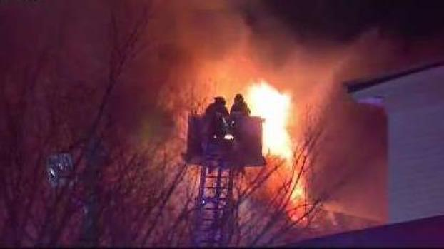 [NECN] Crews Battling Fire in Multi-Family Home in Worcester