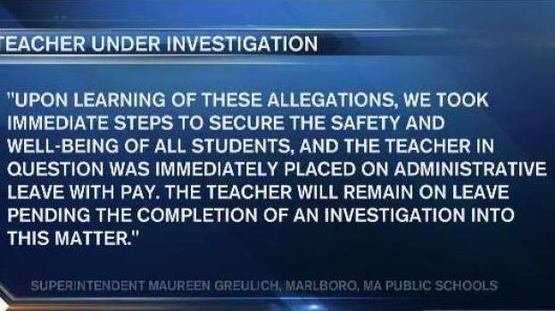 [NECN] Elementary School Teacher Placed on Leave Amid Inappropriate Conduct Allegations