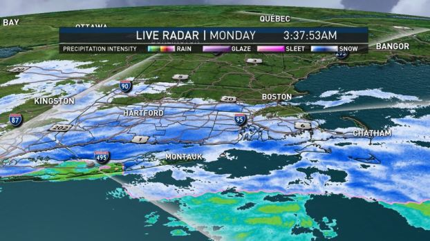 [NECN] Chilly Temps, Light Snow for Christmas Eve