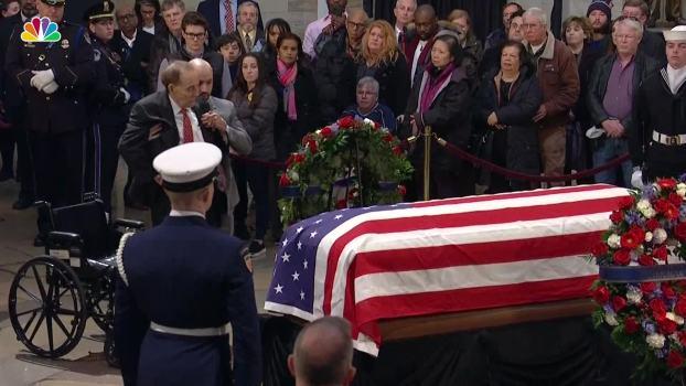 Bob Dole Salutes Former President George H.W. Bush