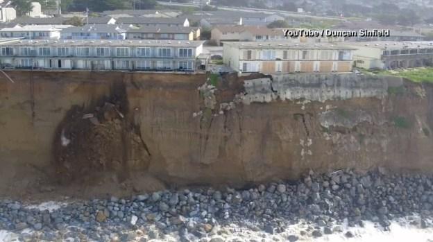 [NATL-LA] Raw Video: Drone View of Northern CA Cliff Erosion