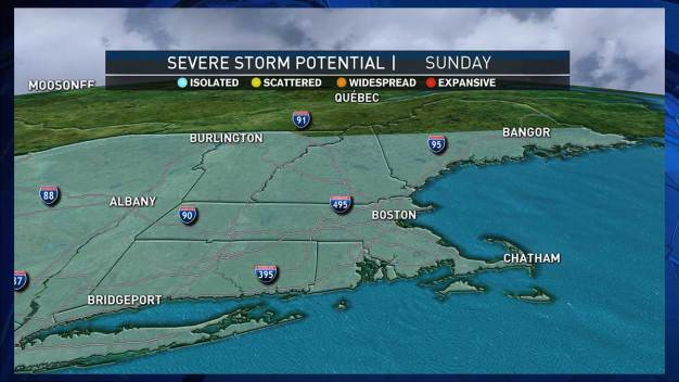 Expect Sporadic Downpours, High Humidity Levels