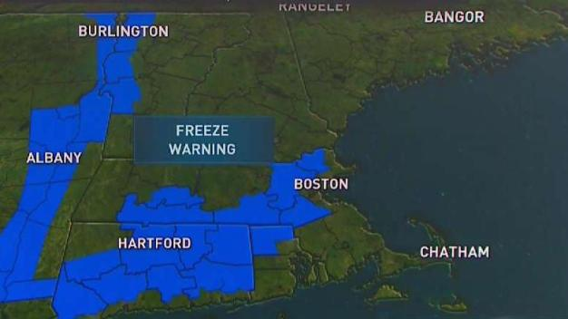 Freeze Warning for Parts of New England