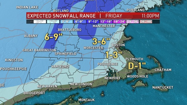 First Projected Snow of Season Looming Over New England