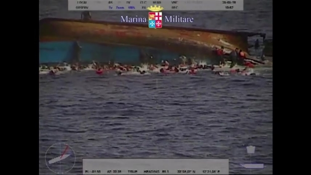 Raw: Migrant Boat Capsizes off Libyan Coast
