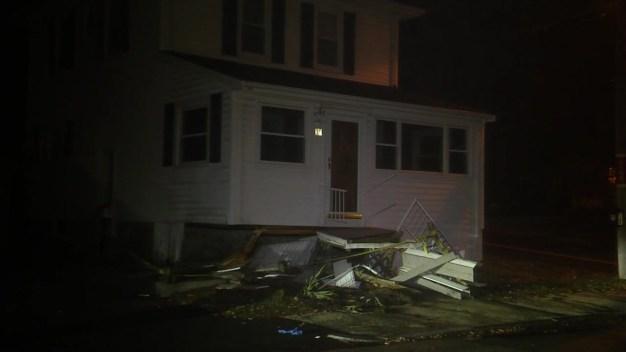 Car Crashes Into Home in Brockton, Mass.