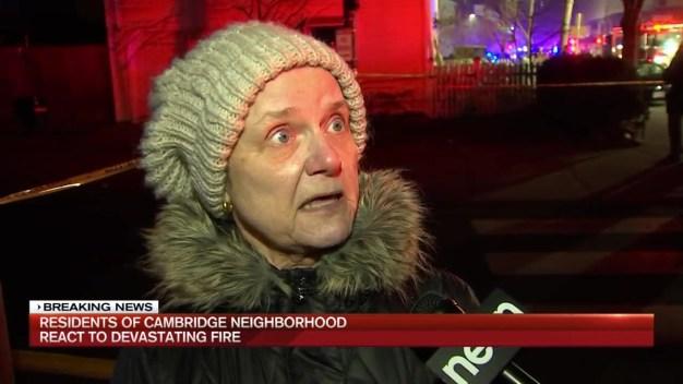 Cambridge Residents Recount the Fury of 10-Alarm Fire